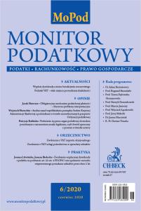 Monitor Podatkowy Nr 6/2020