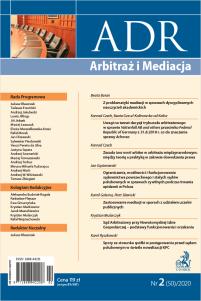 ADR Arbitraż i Mediacja - kwartalnik - numer 2/2020