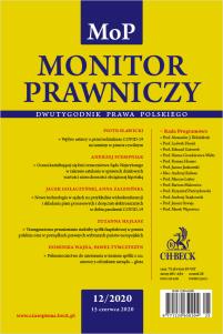 Monitor Prawniczy Nr 12/2020