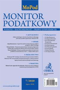 Monitor Podatkowy Nr 7/2020