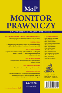 Monitor Prawniczy Nr 14/2020