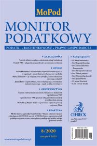 Monitor Podatkowy nr 8/2020