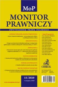 Monitor Prawniczy Nr 15/2020