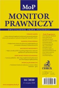 Monitor Prawniczy Nr 16/2020