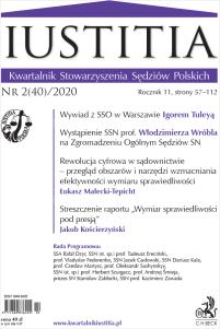 Iustitia. Kwartalnik Stowarzyszenia Sędziów Polskich Nr 2(40)/2020