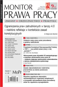 Monitor Prawa Pracy Nr 9/2020
