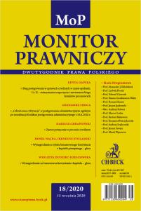 Monitor Prawniczy Nr 18/2020