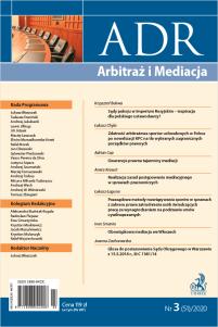 ADR Arbitraż i Mediacja - kwartalnik - numer 3/2020