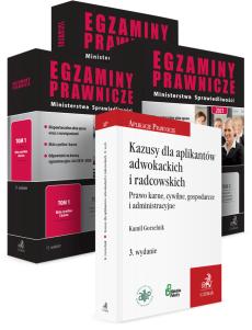 PAKIET: Egzaminy Prawnicze Ministerstwa Sprawiedliwości 2021. Tom 1-3 + Kazusy dla aplikantów radcowskich i adwokackich