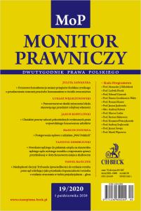 Monitor Prawniczy Nr 19/2020