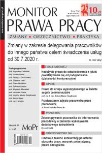 Monitor Prawa Pracy Nr 10/2020