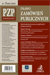 PZP Prawo Zamówień Publicznych - kwartalnik Nr 3/2020