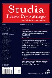 Studia Prawa Prywatnego. Zeszyt 3-4/2020