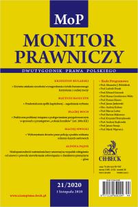 Monitor Prawniczy Nr 21/2020