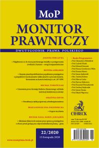 Monitor Prawniczy Nr 22/2020