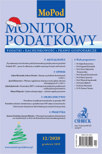Monitor Podatkowy Nr 12/2020
