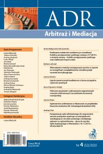 ADR Arbitraż i Mediacja - kwartalnik - numer 4/2020