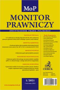 Monitor Prawniczy Nr 1/2021