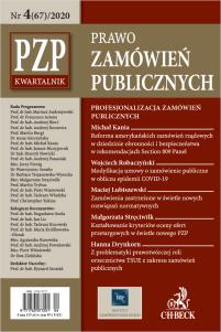 PZP Prawo Zamówień Publicznych - kwartalnik Nr 4/2020
