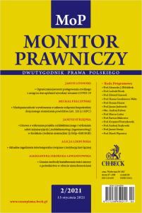 Monitor Prawniczy Nr 2/2021