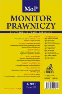 Monitor Prawniczy Nr 3/2021
