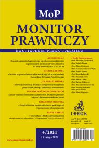 Monitor Prawniczy Nr 4/2021