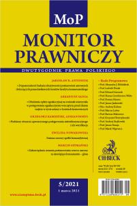 Monitor Prawniczy Nr 5/2021