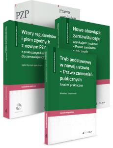 PAKIET: Ustawa PZP - Komentarz + Nowe obowiązki zamawiającego + Tryb podstawowy + Wzory regulaminów i pism