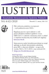 Iustitia. Kwartalnik Stowarzyszenia Sędziów Polskich Nr 4(42)/2020
