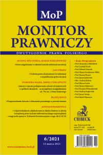 Monitor Prawniczy Nr 6/2021