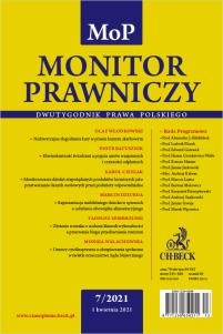 Monitor Prawniczy Nr 7/2021
