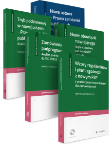 PAKIET: Ustawa PZP - Zamówienia podprogowe + Nowe obowiązki zamawiającego + Tryb podstawowy + Wzory regulaminów i pism + Praktyczna analiza zmian