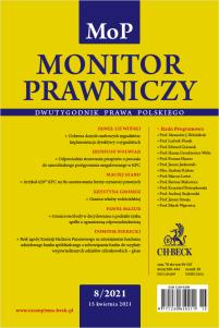 Monitor Prawniczy Nr 8/2021