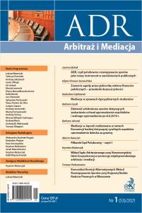 ADR Arbitraż i Mediacja - kwartalnik - numer 1/2021