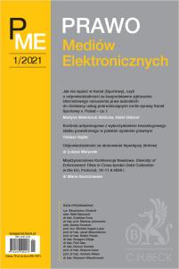 Prawo Mediów Elektronicznych Nr 1/2021