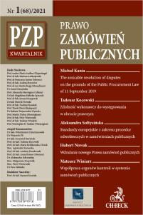 PZP Prawo Zamówień Publicznych - kwartalnik Nr 1/2021
