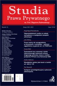 Studia Prawa Prywatnego. Zeszyt 2/2021