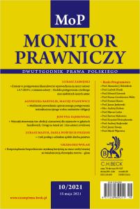 Monitor Prawniczy Nr 10/2021