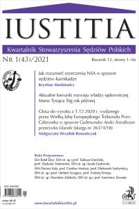 Iustitia. Kwartalnik Stowarzyszenia Sędziów Polskich Nr 1(43)/2021