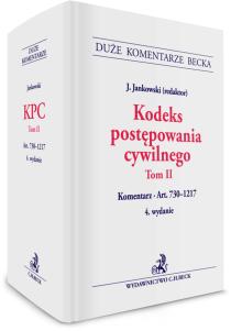 Kodeks postępowania cywilnego. Tom II. Komentarz do art. 730-1217