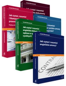 PAKIET: Jak czytać, rozumieć i tłumaczyć umowy, dokumenty i pisma w języku angielskim? 5 praktycznych przewodników
