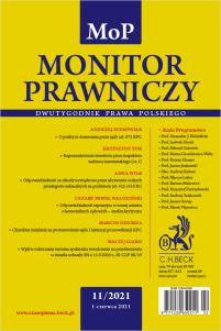Monitor Prawniczy Nr 11/2021