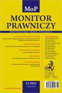 Monitor Prawniczy Nr 13/2021
