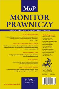 Monitor Prawniczy Nr 14/2021