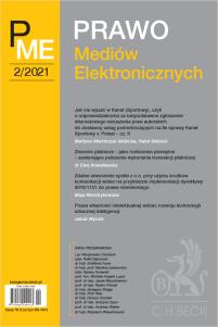 Prawo Mediów Elektronicznych Nr 2/2021