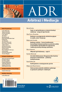 ADR Arbitraż i Mediacja - kwartalnik - numer 2/2021
