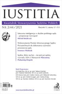 Iustitia. Kwartalnik Stowarzyszenia Sędziów Polskich Nr 2(44)/2021