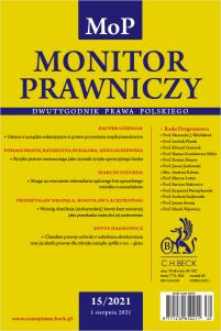 Monitor Prawniczy Nr 15/2021
