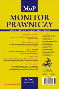 Monitor Prawniczy Nr 16/2021