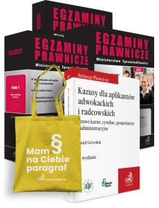 PAKIET: Egzaminy Prawnicze Ministerstwa Sprawiedliwości 2022. Tom 1-3 + Kazusy dla aplikantów radcowskich i adwokackich